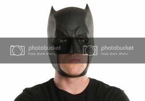 Mens Adult Batman VINYL 3/4 Mask Batman v Superman Dawn of Justice Movie Mask