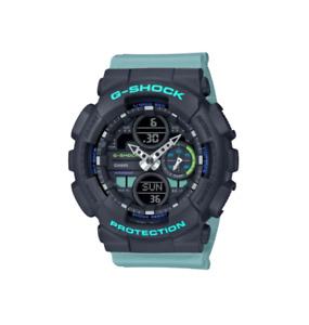 Authentic G-Shock Casio Blue Teal Women's Analog-Digital Watch GMAS140-2A