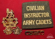 Cadet Services of Canada Badge & Cloth Insignia Lot (inv 15046)