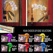ORCHID LINES I (24x24) & ORCHID LINES II (24x24) SET by DON LI-LEGER 2PC CANVAS