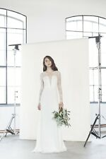 Divine Atelier Lyra Maternity Wedding Dress Size 4, 6, 8, Long Sleeves, Vintage