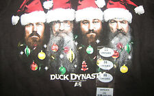 Boy's Duck Dynasty Black Long Sleeve Shirt Christmas Santa Hats 5/6 New tags NWT