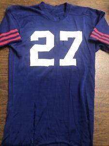 Vintage 1970's  Blue Football Jersey  Durene  Nylon/Cotton .  Sewn On Numbers