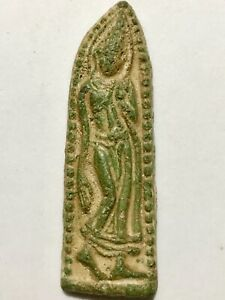 PHRA LEELA LP RARE OLD THAI BUDDHA AMULET PENDANT MAGIC ANCIENT IDOL#6