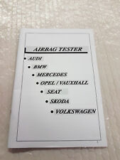 Airbag manuale d'uso in inglese per dispositivo diagnostico Longus BMW VW Audi MB