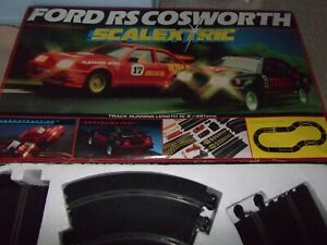 SCALEXTRIC FORD COSWORTH SET BOXED IN GOOD ALL ROUND CONDITION