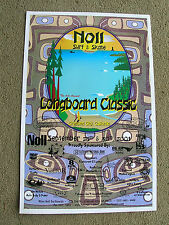 Vintage greg noll longboard surfing surfboard contest poster 6th annual rare