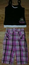 Girls, Outfit, Jumping Beans, Pants, Hanes, Rebel, Tank Top, Size 4 & Small