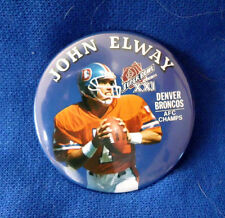 John Elway Denver Broncos Super Bowl XXI button