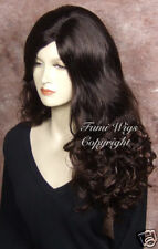 Long Side Parting Wig in Dark Brown / 100% Japanese Fibre Brilliant Quality