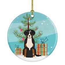 Caroline's Treasures Merry Christmas Tree Greater Swiss Mountain Dog Ceramic .