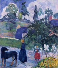 Art CANVAS Print Reproduction Among the Lillies by Paul Gauguin Small 8x10