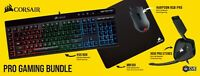 CORSAIR - Pro Wired Gaming Bundle with RGB Back Lighting - Black  CH-9226515-NA