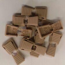 (10) Desert Tan Plastic Zipper Pulls Cord Lock Cord locks Ends for Paracord Rope