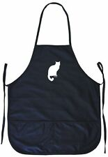 Kitty Cat Logo Cooking Apron With Pockets