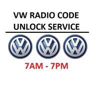 VW Volkswagen Radio Code Unlock Decode Service RCD Beta Gamma Delta etc..