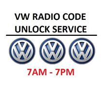VW Radio Code RCD510 RCD315 RCD310 RCD215 RCD RCD210 Beta Gamma Delta etc