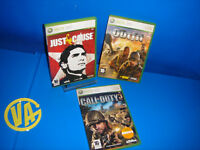 Juegos XBOX 360 Lote de 3 juegos XBOX 360 JUST CAUSE-THE OUTFIT-CALL OF DUTY 3