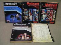 (4) 1981-1983 Vintage Ford Motorcraft Dealer Car Truck Parts Catalogs Books Nice