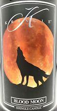 Kringle Candle Jar 2-wick 22 Oz BLOOD MOON Halloween Black Soy Wax 🎃