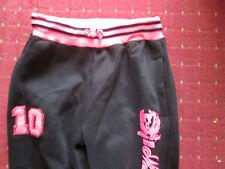 "ladies black and pink joggers keep fit pants elasticated  Medium 32"" waist"