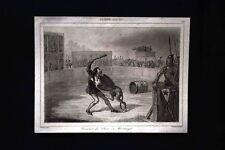 Combat du Chien de Montargis, France Incisione del 1850 L'Univers pittoresque