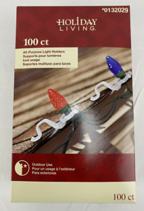 Light Clips, Holders For Outdoor Use On Gutters And Shingles, 100 ct., FREE S&H!