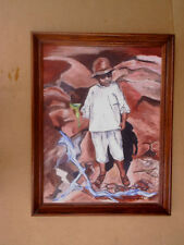 1964 JAMAICAN BOY Oil Painting SIGNED M. Lodendorf,margaret