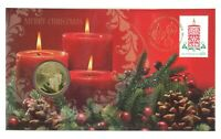 Australia 2013 Merry Christmas Festive Candles $1 UNC Coin & Stamp PNC Cover
