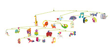 Djeco Carnival of Animals Modern Hanging Baby Mobile Nursery Decor Art French