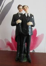 TWO GROOMS Wedding Cake Topper | Gay | Male Same Sex Marriage