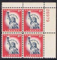 Scott#: 1044A - Statue of Liberty Plate Block of Four MNH OG