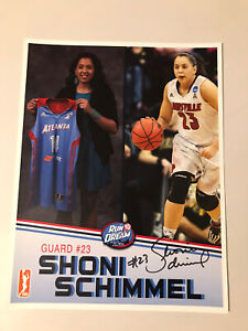 Shoni Schimmel Autographed Signed 8 1/2 X 11 Photo Card Atlanta Dream, Qty Avail