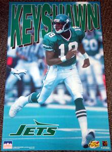 Rare KEYSHAWN JOHNSON New York Jets 1996 Starline NFL Action POSTER