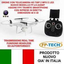 DRONE QUADRICOTTERO RADICOMANDATO LCD 4CH X2 2,4Ghz CAMERA HD VIDEO FOTO USB LED