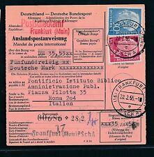 89310) estere-post istruzione Heuss, MIF FRANCOFORTE-ROMA ITALIA