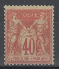 "FRANCE STAMP TIMBRE 70 "" SAGE 40c ROUGE-ORANGE TYPE I "" NEUF xx  TB   M445"