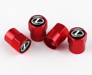 Lexus F Sport CT ES GS IS LC LS LX RX RC Aluminum Valve Cap RED Wheel Tyre