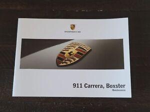 New 2005 2006 Porsche 911 997 Carrera Boxster Maintenance Manual Original OEM