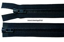 "YKK ZIP, NAVY, 26""/66CM, CHUNKY TEETH PLASTIC TWO WAY OPEN END, NUMB 5"