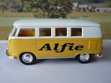 PERSONALISED NAME Yellow VW Camper Van Bus Boys Toy Model Car Birthday Present