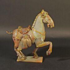 Opaline unique huge horse sculpture Ermanno Nason Murano glass 1963-72 Cenedese