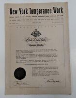New York Temperance Work Offician Organ 1960 April May Handout FLyer Pamphlet