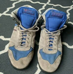 Vintage Merrell Light Traveler Suede Blue and Gray Hiking Boots Men's Size 8.5