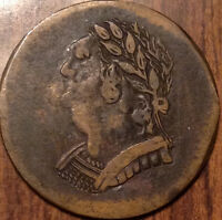 1820 LOWER CANADA HALF PENNY TOKEN BUST AND HARP IN OUTSTANDING CONDITION
