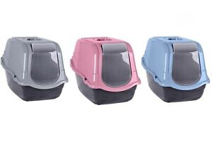 LARGE PET CARRIER PORTABLE LITTER TOILET CAT TRAY BOX SWING DOOR CARRY HANDLE