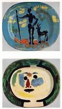 "Authentic Picasso Vintage Colour Print ""Decorated Plates"" Original Book Plate"