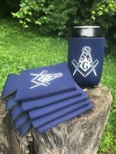 LOT of 6 Masonic Lodge Member NAVY Beer Beverage Can Holder Huggie Koozie GIFT