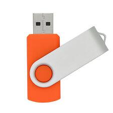 128MB Orange Swivel Folding  USB2.0 Flash Drive Rotating Memory Stick U Disk