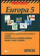 UNIFICATO EUROPA 2019-20 VOLUME 5 - CATALOGO PER FRANCOBOLLI